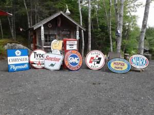 CLASSIC GASOLINE AND OIL SIGNS