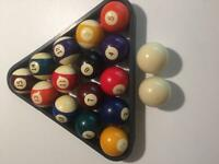 Billiard (pool) balls and triangle