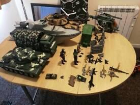Military toy job lot