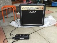 Amplifier for sale, Marshall AVT 100 with foot pedal