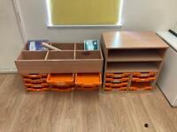 Classroom art storage