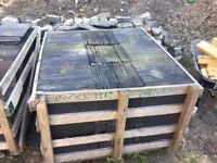 Les Bosque Spanish Roofing Slates. 2 unopened pallets left over from job