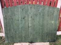 2x 6x5 solid fence panels