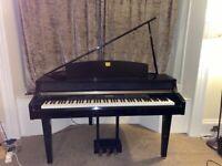 Preowned Yamaha CLP-295GP Clavinova Grand Piano in Polished Ebony