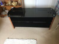 Large glass T V stand