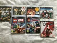 7 ps3 games in original boxes