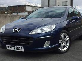 2007 ( 07 ) PEUGEOT 407 SE HDI 1997cc DIESEL SALOON BLUE 5 DOORS 100% HPi CLEAR (FINANCE AVAILABLE)