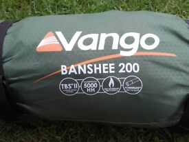 Vango Banshee 2 man tent used once. Great condition as new
