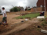 Driveways, Fencing, Gardens and landscaping, Paths, Patios, Shed bases, Tree stump and Roots removed