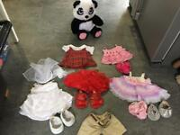 Build a bear panda and clothes