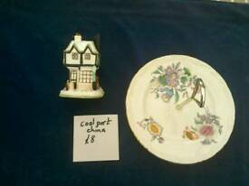 Coalport cottage and cake plates
