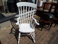 VINTAGE ROCKING CHAIR GRANDFATHER STYLE ROCKING CHAIR IN YEOVIL