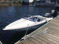 Fletcher 15ft speedboat (maxum, bayliner, speed boat, jetski, fishing boat, bowrider, boat)