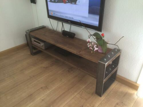 Tv bank design  Lowboard Industrial Design TV-Bank Holz Metall Designer Industrie ...