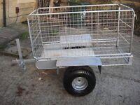 garden trailer full galvanized good condition ready to go