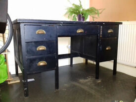 black furniture vintage desk with drawers