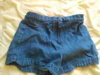 Denim cotton dress + shorts + summer school uniform girls bundle age 4-5 WILL POST