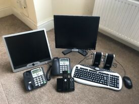 Office Equipment - Computer Monitors, Keyboards, Telephones
