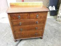 Chest of drawers old fashioned oak