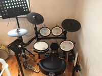 Roland 25k Vdrums electric drum kit. Bass pedal, chair and Hi hat stand