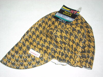 Kt Industries 4-3125ht Welding Cap Universal Fit Comeaux Hounds Tooth Washable