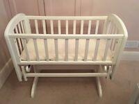 John Lewis Anna white glider crib