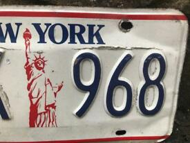 Original authentic New York licence plate
