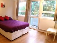 FANTASTIC 2/3 DOUBLE BEDROOM FLAT WITH BALCONY NEAR ZONE 2 NIGHT TUBE, 24 HOUR BUSES & SHOPS