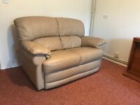 leather sofa and chair set. FREE TO COLLECT
