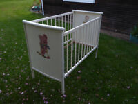 Vintage Mothercare Cot Crib, frame only. No mattress.