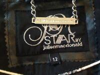 Julien McDonald star size 12 black coat