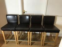 4 Ikea Henriksdal bar stools