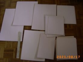 White cardboard for Craft work, mounting, picture making Bristol