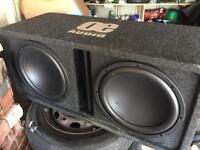 Sub woofer with fitted amp