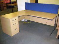 Blue Office Desk Divider Partition 1600mm
