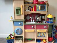 Toy kitchen and accessories