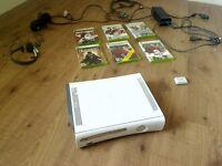 X BOX 360 PLUS 6 GAMES PLUS HEADSET