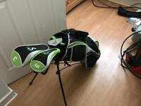 Woodworm Junior golf clubs, bag and balls for roughly age 7-10