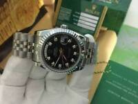 Rolex Day Date Black Dial Stainless Steel