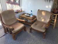 Oak Arm Chairs