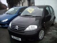 2009 Citroen C3 1.2 Petrol 5 door Black consider trade in