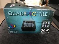 Quad spec tile led light for marine tank