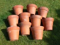 Plant pots. Made in bulwell by Sankey. Real Terracotta