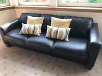 Sofa workshop brown leather 3 seater sofa