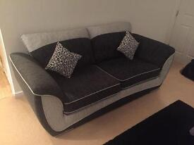 3 seater fabric sofa for sale. Like new.