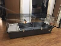 Spacious Rabbit & Guinea Pig Cage - With Split Folding Screen