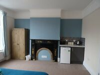 1 x King size room with kitchennette and 1 x good size double room, private parking, large kitchen
