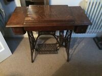 Vintage SINGER Sewing Machine Table with machine Portslade Antique