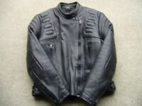 Ladies leather motorcycle jacket size 36 top quality.
