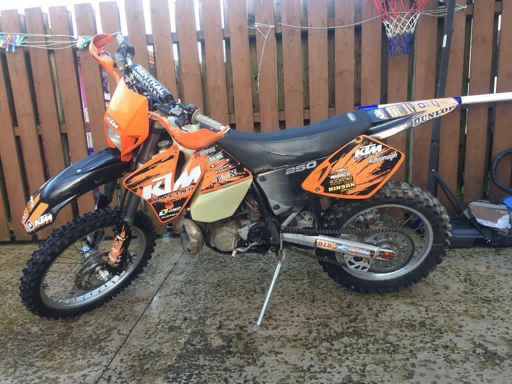 Ktm exc 250 2stroke enduro road registered yz crf rm kx